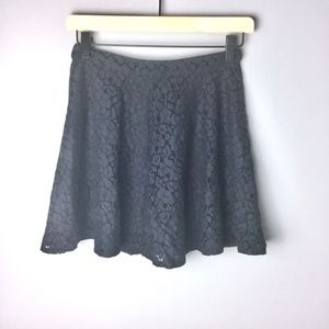 Topshop Black Lace Circle Skirt Size 2